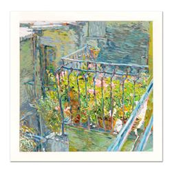 """Marco Sassone, """"Le Balcon Blueae"""" Limited Edition Serigraph, Numbered and Hand Signed with Letter of"""