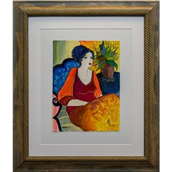 """Patricia Govezensky- Original Watercolor """"No Apologies"""""""
