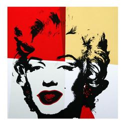 """Andy Warhol """"Golden Marilyn 11.38"""" Limited Edition Silk Screen Print from Sunday B Morning."""