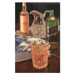 """Nobu Haihara, """"Scotch On The Rocks"""" Limited Edition Canvas, Signed and with COA."""