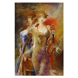 """Lena Sotskova, """"Stars"""" Hand Signed, Artist Embellished Limited Edition Giclee on Canvas with COA."""