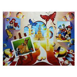 Alexander Astahov- Original Oil on Canvas  Journey to Disneyland