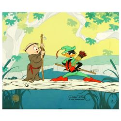 """""""Buck and a Quarter Staff"""" by Chuck Jones (1912-2002). Limited Edition Animation Cel with Hand Paint"""