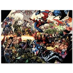 """Marvel Comics """"Secret Invasion #6"""" Numbered Limited Edition Giclee on Canvas by Leinil Francis Yu; I"""