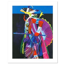 """""""Traditional Dancer I"""" is a LIMITED EDITION Giclee on Canvas by John Nieto, Numbered 1/500 and Hand"""