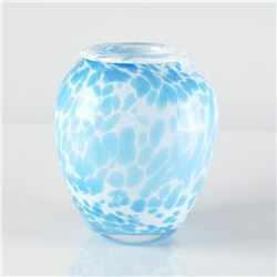 Original Hand-Blown Glass Vase Sculpture by Jean Claude Novaro (1943-2014), Hand Signed by the Artis