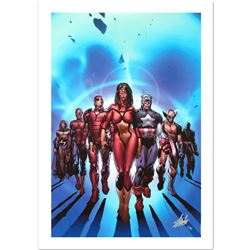 """""""New Avengers #7"""" Limited Edition Giclee on Canvas by David Finch and Marvel Comics. Numbered and Ha"""