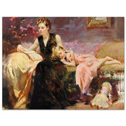 """Pino (1939-2010) - """"Precious Moments"""" Artist Embellished Limited Edition on Canvas (48"""" x 36""""), CP N"""