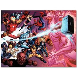 """Marvel Comics """"Avengers Academy #11"""" Numbered Limited Edition Giclee on Canvas by Tom Raney; Include"""