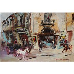 "Shalva Phachoshvili- Original Oil on Canvas ""Hotel"""