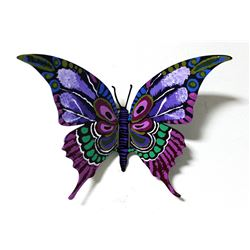 "Patricia Govezensky- Original Painting on Cutout Steel ""Butterfly CXXVI"""
