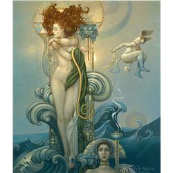"""Michael Parkes """"Venus"""" Masterworks on Canvas"""