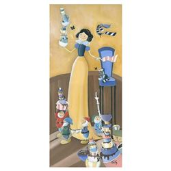 """Katie Kelly, """"Cleaning Up"""" Limited Edition Giclee on Gallery Wrapped Canvas, Licensed by Disney Fine"""