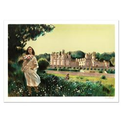 """Robert Vernet Bonfort, """"Summer Flowers"""" Limited Edition Lithograph, Numbered and Hand Signed."""