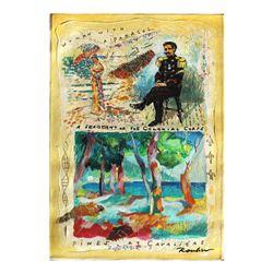 "Olga Roubin- Original Acrylic On Canvas ""Woman with a Parasol"""