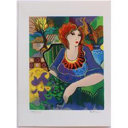 "Patricia Govezensky- Original Serigraph on Paper ""Sitting Pretty"""