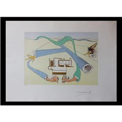 "Salvador Dali- Original Engravings with color by pochoir ""The Catalytic Cracker"""