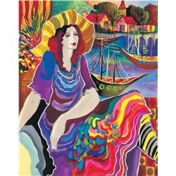 "Patricia Govezensky- Original Giclee on Canvas ""Lady by the Bayside"""