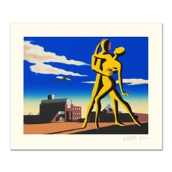 "Mark Kostabi, ""Yesterday's Here"" Limited Edition Serigraph, Numbered and Hand Signed with Certificat"