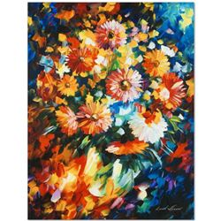"Leonid Afremov ""Magic Bouquet"" Limited Edition Giclee on Canvas, Numbered and Signed; Certificate of"