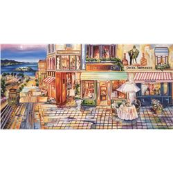"Alexander Borewko- Original Giclee on Canvas ""Pedestrian Mall"""