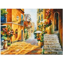 "Leonid Afremov ""The Sun of Sicily"" Limited Edition Giclee on Canvas, Numbered and Signed; Certificat"