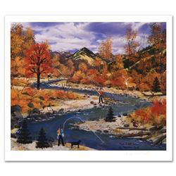 """Trail Creek Autumn"" Limited Edition Lithograph by Jane Wooster Scott, Numbered and Hand Signed with"