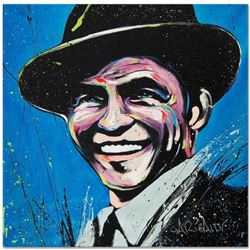 """Frank Sinatra (Blue Eyes)"" Limited Edition Giclee on Canvas (36"" x 36"") by David Garibaldi, Numbere"