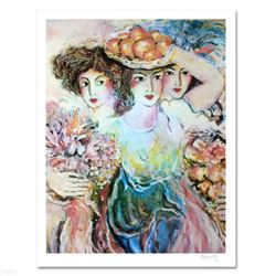 """""""Three Women"""" Limited Edition Lithograph by Zamy Steynovitz (1951-2000), Numbered and Hand Signed by"""