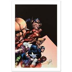 """""""Avengers #500"""" Limited Edition Giclee on Canvas by David Finch and Marvel Comics. Numbered and Hand"""