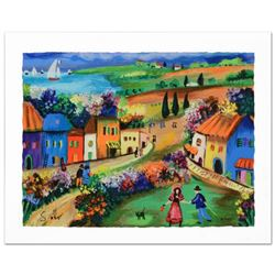 """""""The Village"""" Limited Edition Serigraph by Shlomo Alter, Hand Signed by the Artist with Certificate"""