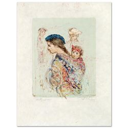 """""""Guatemalan Mother and Baby"""" Limited Edition Lithograph by Edna Hibel (1917-2014), Numbered and Hand"""