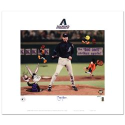 """""""Randy Johnson"""" Limited Edition Lithograph from Warner Bros., Numbered and Hand Signed by Randy John"""