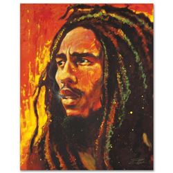 """Bob Marley"" Limited Edition Giclee on Canvas by Stephen Fishwick, Numbered and Signed with Certific"