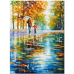 "Leonid Afremov ""Stroll in an Autumn Park"" Limited Edition Giclee on Canvas, Numbered and Signed; Cer"