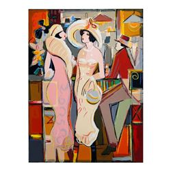 "Isaac Maimon, ""Dames Elegantes"" Limited Edition Serigraph, Numbered and Hand Signed with Letter of A"