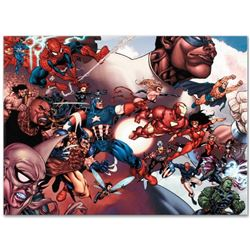 "Marvel Comics ""What If? Civil War #1"" Numbered Limited Edition Giclee on Canvas by Harvey Tolibao; I"