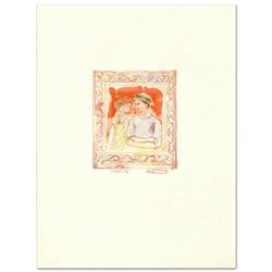 """Romance"" Limited Edition Lithograph by Edna Hibel (1917-2014), Numbered and Hand Signed with Certif"