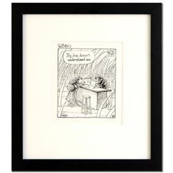 "Bizarro! ""Flea Bar"" is a Framed Original Pen & Ink Drawing by Dan Piraro, Hand Signed by the Artist"