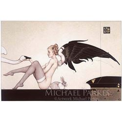 "Michael Parkes ""The Angel of Hidden Things"" Original Hand Pulled Stone Lithographs"