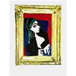 """Pablo Picasso (1881-1973)- Offset Lithograph """"Portrait De Jacqueline"""""""