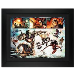 """""""Fear Itself #7"""" Extremely Limited Edition Giclee on Canvas by Stuart Immonen and Marvel Comics. Num"""