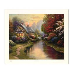 """Thomas Kinkade (1958-2012), """"A Quiet Evening"""" Limited Edition Offset Lithograph, Numbered 62/3850 an"""
