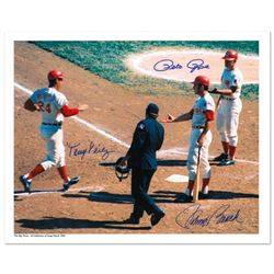 """""""Tony Crossing the Plate"""" Archival Photograph of Tony Perez crossing the plate and being congratulat"""