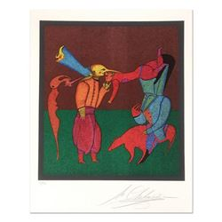 """Mihail Chemiakin - Carnival Series: """"Untitled 2"""" Limited Edition Lithograph, Numbered Hand Signed wi"""