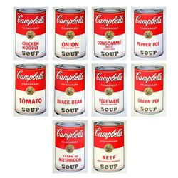 """Andy Warhol """"Soup Can Series I"""" Suite of 10 Silk Screen Prints from Sunday B Morning."""