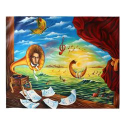 """Eugene Poliarush- Original Oil on Canvas """"Mysterious Classical Music"""""""