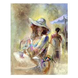 "Lena Sotskova, ""Miss Sunchine"" Hand Signed, Artist Embellished Limited Edition Giclee on Canvas with"