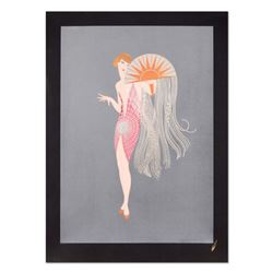 "Erte (1892-1990), ""Flapper"" Limited Edition Serigraph, Numbered and Estate Signed with Certificate o"