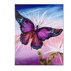 """Rainbow Butterfly"" Limited Edition Giclee on Canvas by Martin Katon, Numbered and Hand Signed with"